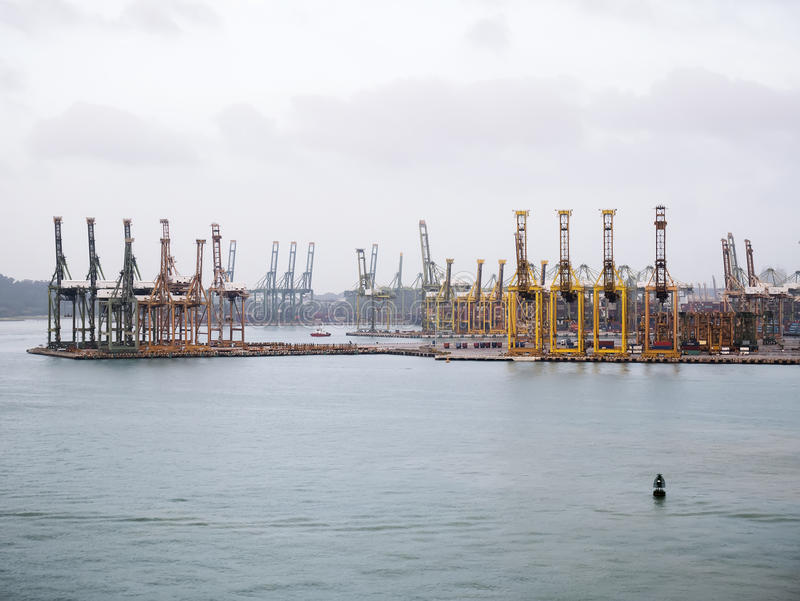 Singapore cargo terminal,one of the busiest Import, Export. Logistics ports in the world, Singapore royalty free stock photography