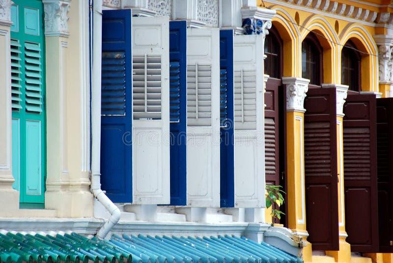 Singapore: Casas do monte da esmeralda imagem de stock