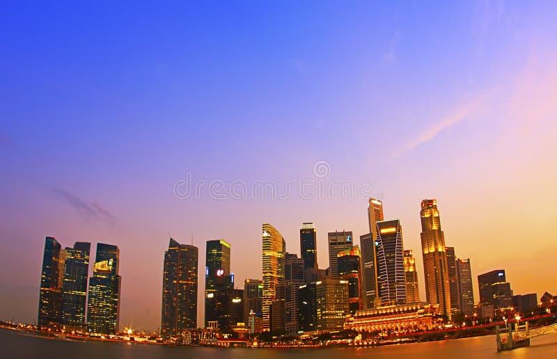 Singapore CBD fotografia de stock