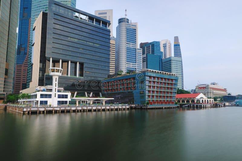 Singapore CBD i panorama royaltyfria bilder