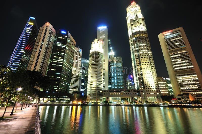 Singapore CBD na noite foto de stock royalty free