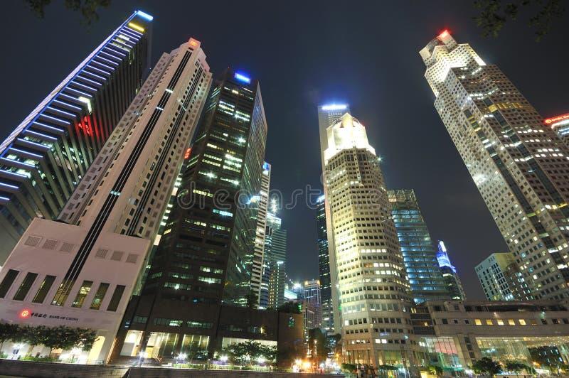 Download Singapore CBD at Night editorial stock image. Image of city - 18117784