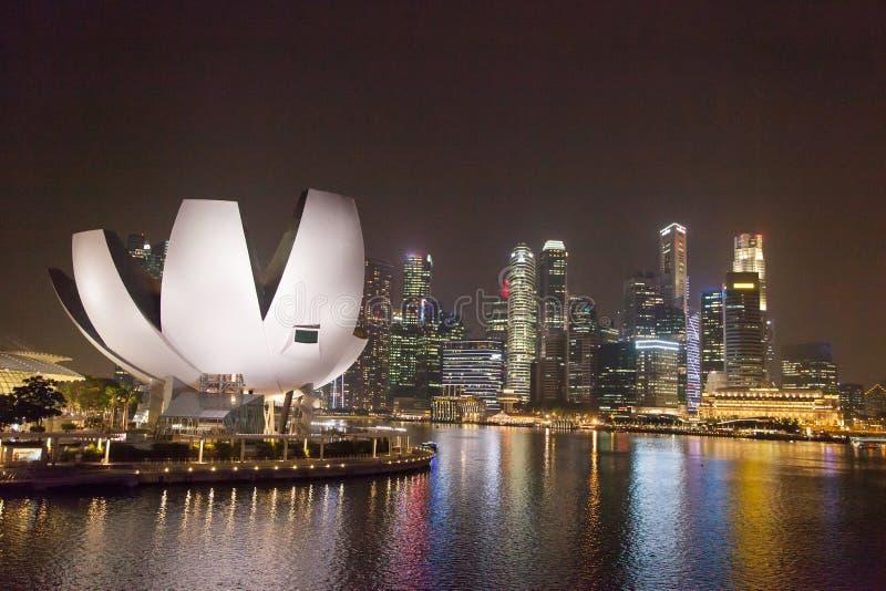 Singapore center at night stock image