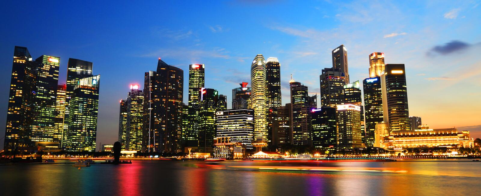 Singapore Central Business distric area with evening skylines. Singapore Central Business distric area with evening royalty free stock image
