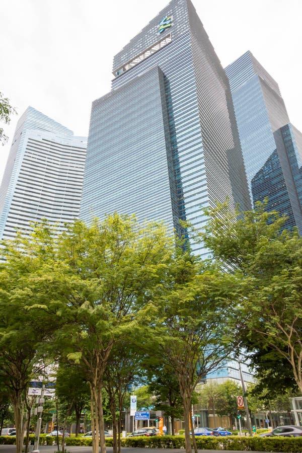 Singapore Central Business District, Singapore, Dec 15, 2017. Standard Chartered Building Singapore Central Business District, Singapore, Dec 15, 2017 stock photo