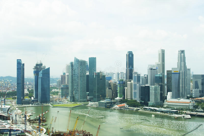 Download Singapore Central  Business District Skyline Editorial Photo - Image: 13342466