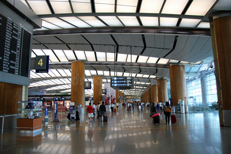 Singapore Changi International Airport stock photo