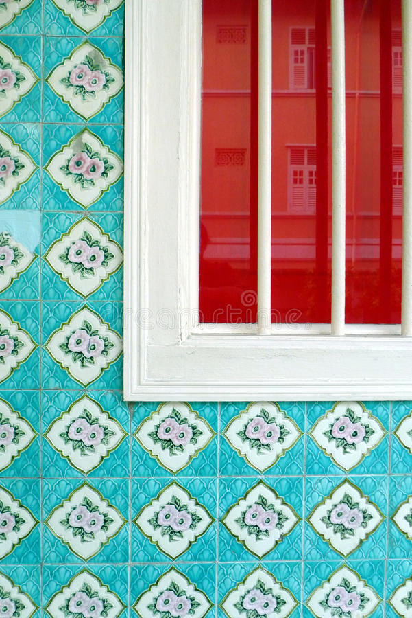 Singapore china town heritage house details stock photography