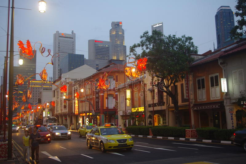 Singapore Chinatown fotografia de stock royalty free