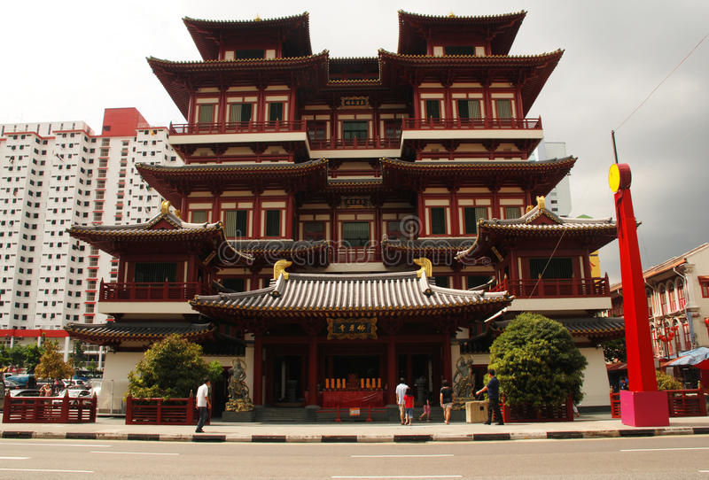 Singapore, Chinatown, Buddha Tooth Relic Temple stock photography