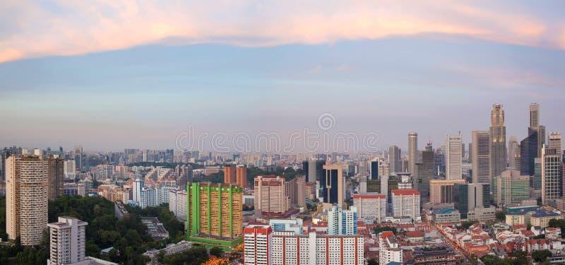 Singapore Chinatown Cityscape Panorama Stock Images