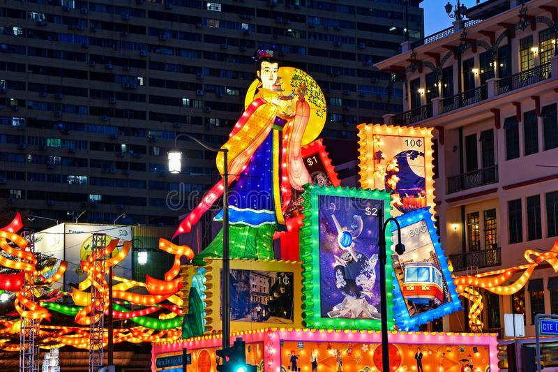 Singapore Chinatown Mid-Autumn Festival Light-Up 2019 royalty free stock images