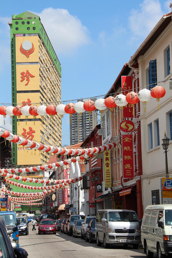 Singapore Chinatown. Singapore`s Chinatown is an ethnic enclave located within the Outram district in the Central Area of Singapore. Featuring distinctly Chinese royalty free stock images