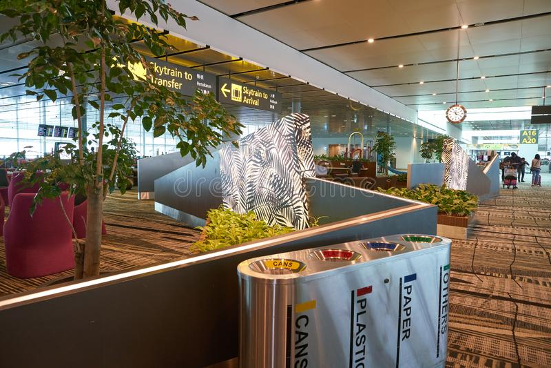 Singapore Changi Airport royalty free stock photos