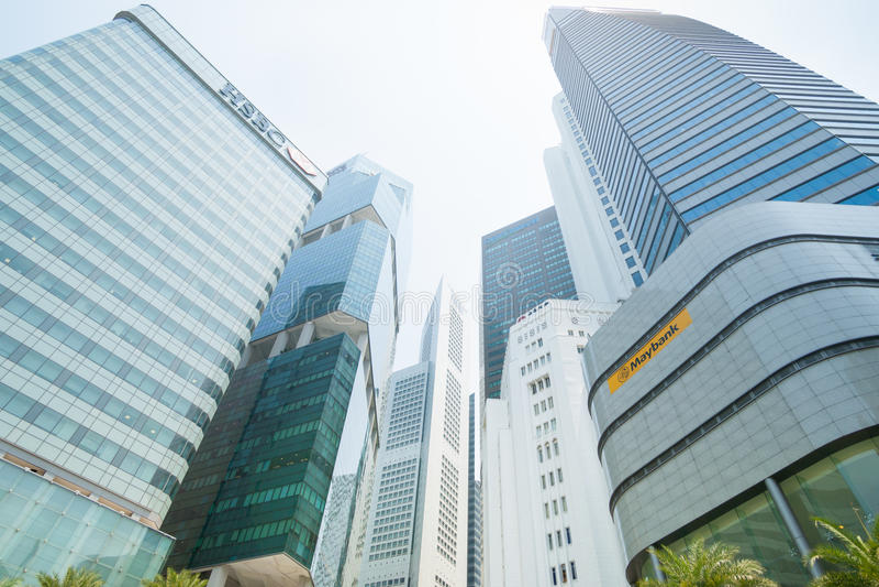 Singapore city buildings. stock photography