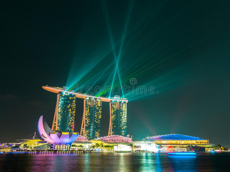Download Singapore city at night stock photo. Image of cityscape - 38899916