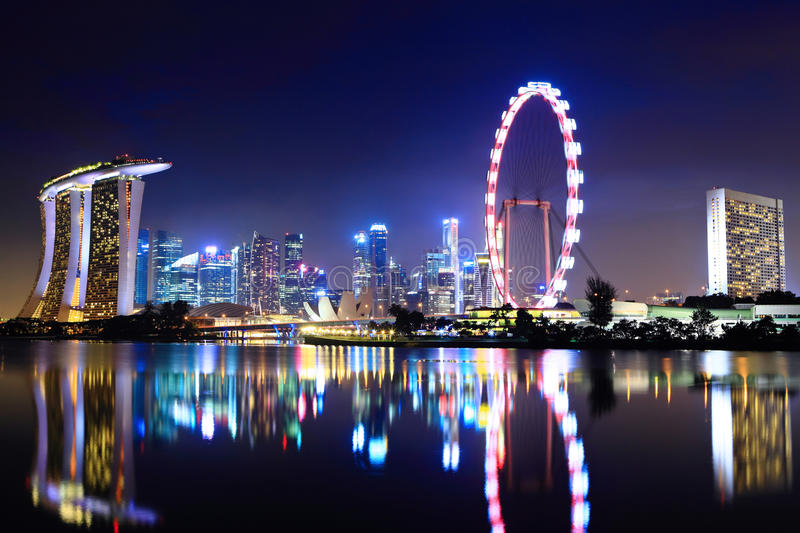 Download Singapore city skyline stock photo. Image of district - 25861778
