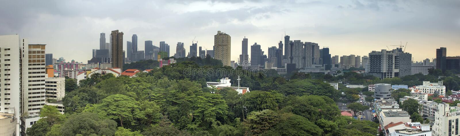 Download Singapore City Skyline With Green Landscape Stock Photo - Image of forest, greenery: 30856834