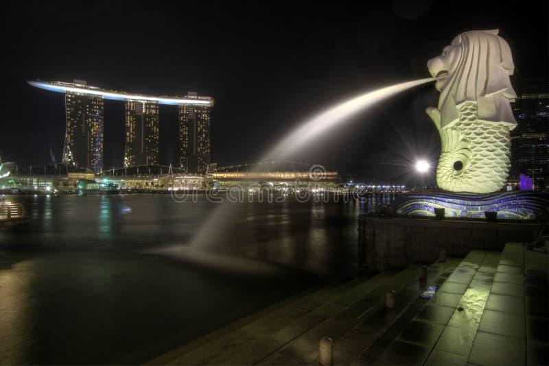 Singapore City Skyline at Merlion Park 2 stock photos