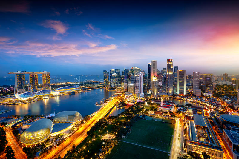 Singapore city skyline royalty free stock image