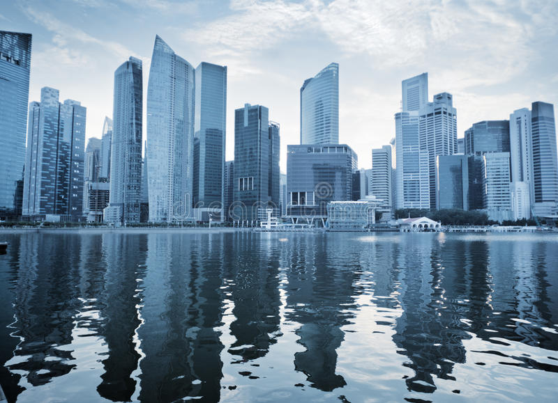 Download Singapore city stock image. Image of night, business - 30127881