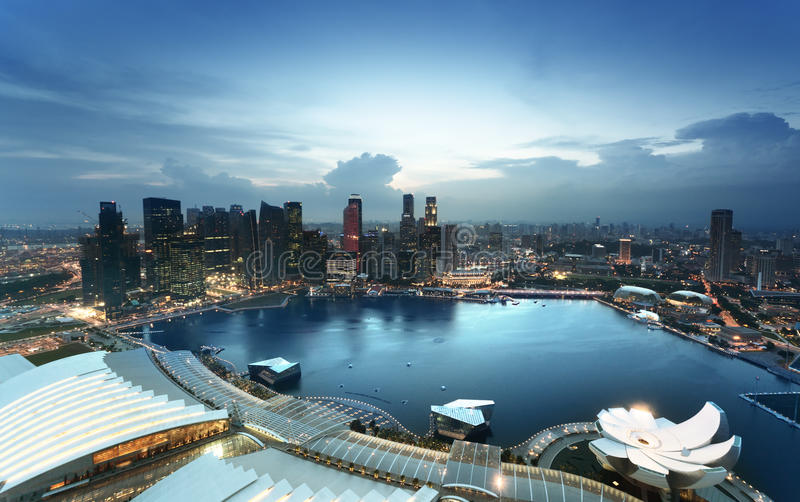 Download Singapore city stock photo. Image of architecture, evening - 30892762