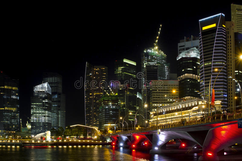 Singapore Cityscape from the Esplanade royalty free stock images