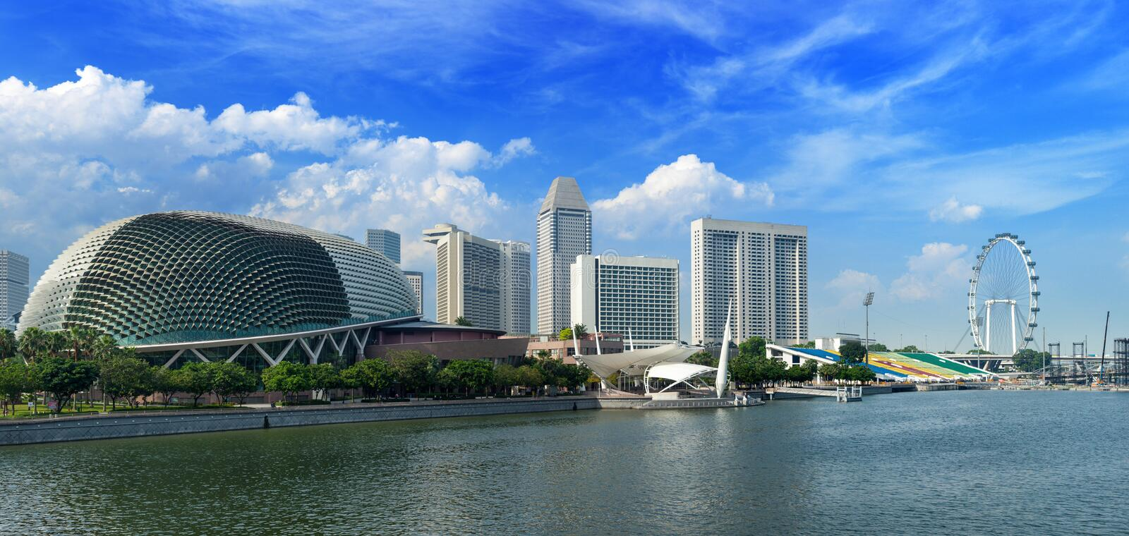 Singapore cityscape at Marina bay stock images