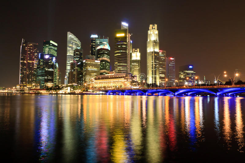 Singapore Night royalty free stock images