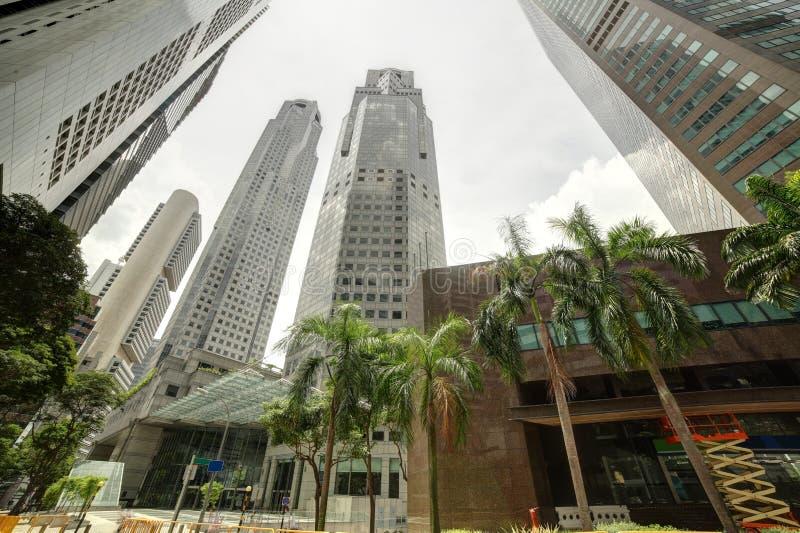 Singapore cityscape på dagen arkivfoto