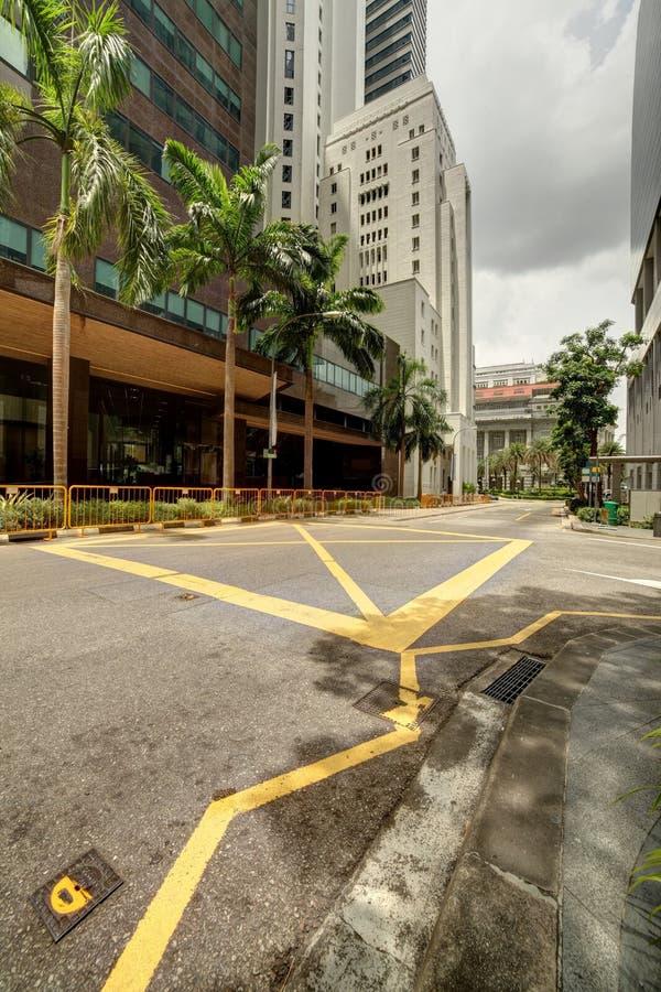 Singapore cityscape på dagen fotografering för bildbyråer
