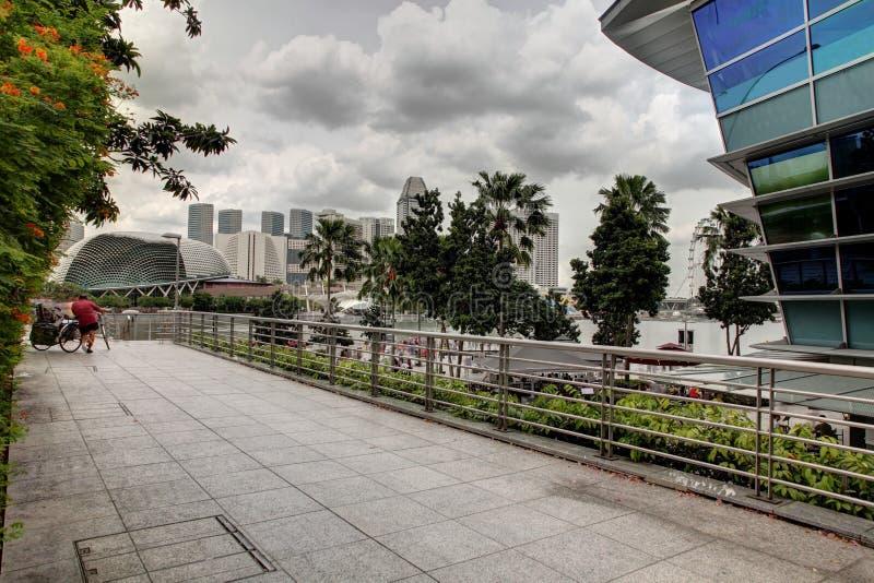 Singapore cityscape på dagen arkivbild