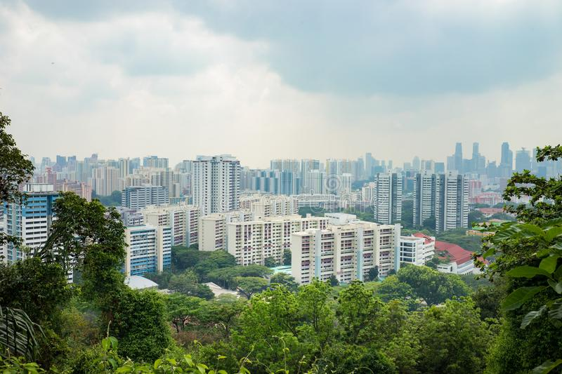 Singapore cityscape viewing from Mount Faber hill top royalty free stock photos