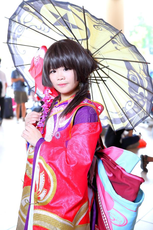 Singapore: Cosplay. Unknown pretty cosplayer at one of the many costplay events in Singapore stock photography
