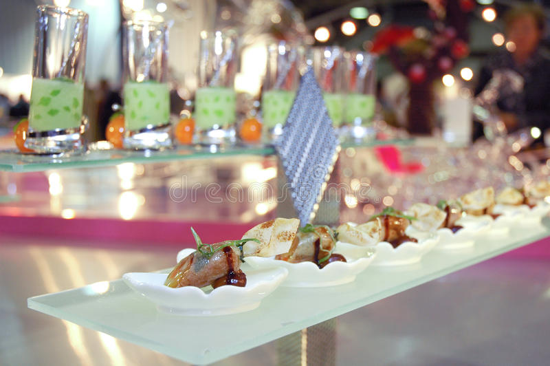 Singapore cuisine. An artistic dish from singapore at luxembourg expogast competition stock photo