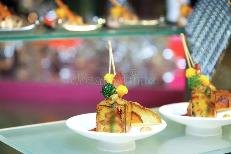Singapore cuisine. An artistic dish from singapore at luxembourg expogast international competition stock photo