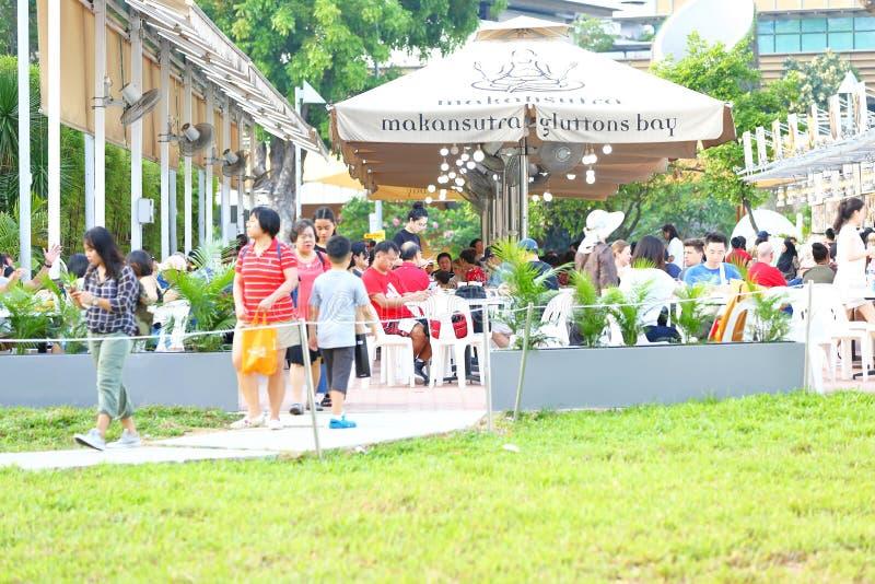 Singapore: De baai van Makansutragourmanden royalty-vrije stock foto's