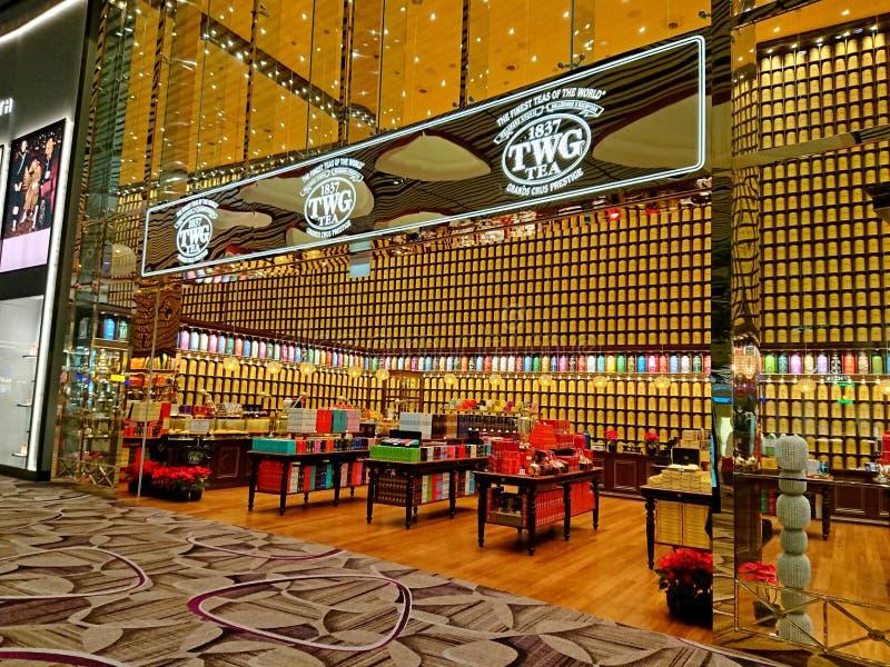 Singapore: De Luchthaven van TWG Changi T4 royalty-vrije stock fotografie