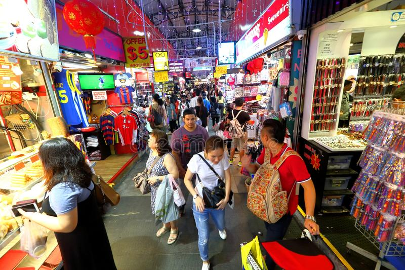 Singapore: De markt van de Bugisstraat royalty-vrije stock afbeeldingen