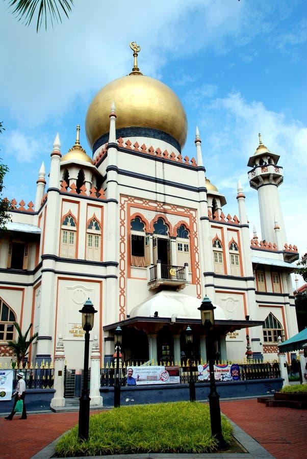 Singapore: De Moskee van Singapura van de Sultan van Masjid stock afbeelding