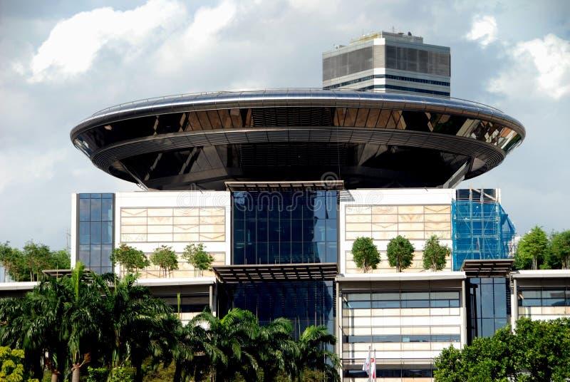 Singapore: De nieuwe Bouw van het Hooggerechtshof stock afbeeldingen
