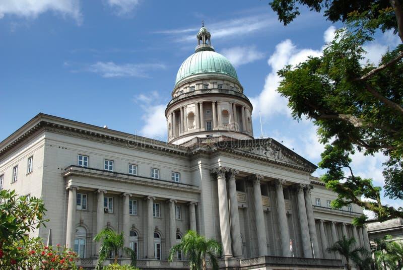 Singapore: De oude Bouw van het Hooggerechtshof stock afbeelding