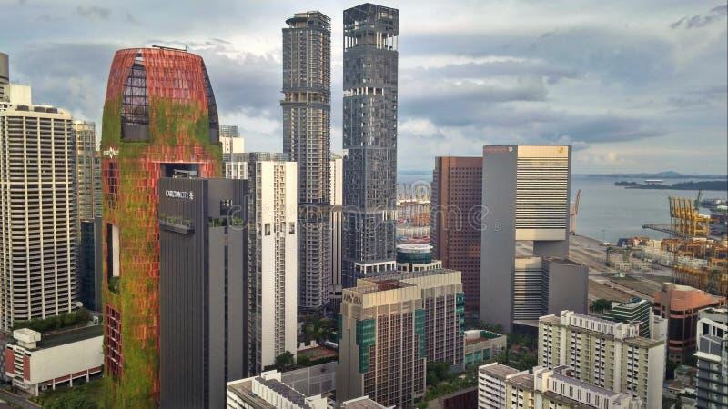 Singapore de stad in royalty-vrije stock afbeeldingen