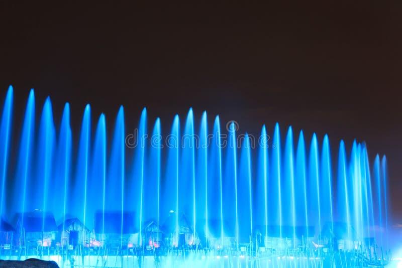 De laser toont in Sentosa, Singapore royalty-vrije stock afbeelding