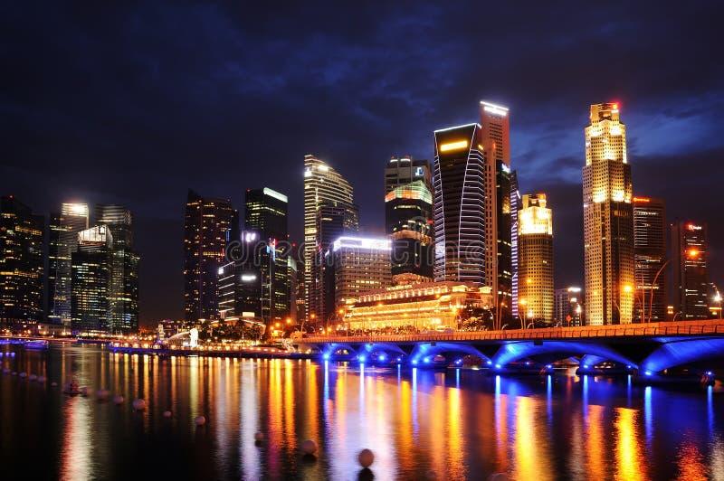 Baia del porticciolo, Singapore fotografia stock libera da diritti