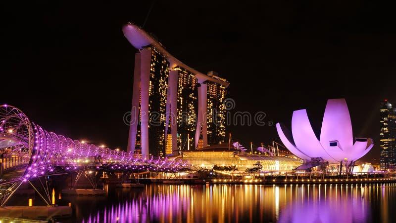 Sabbia della baia del porticciolo, Singapore immagine stock