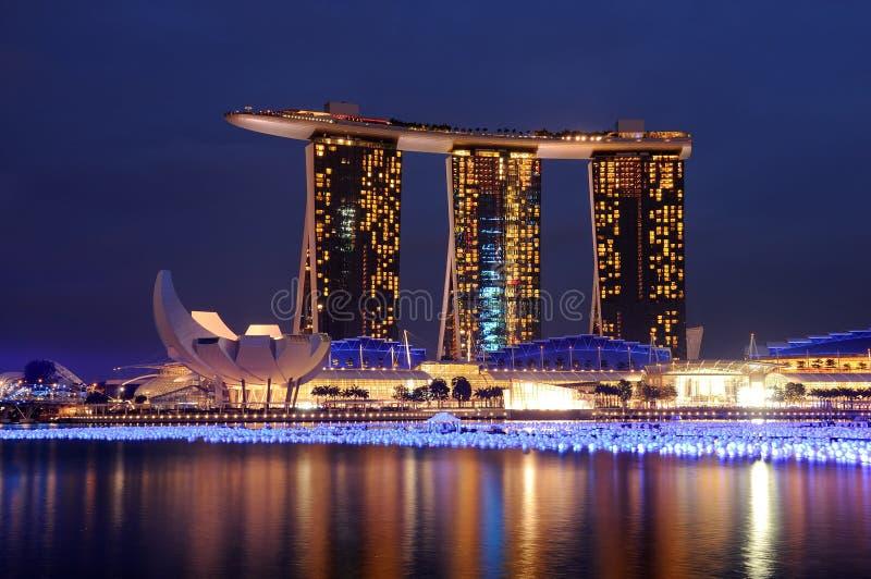 Sabbia della baia del porticciolo, Singapore immagini stock
