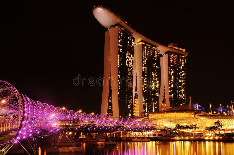 Sabbia della baia del porticciolo, Singapore fotografia stock