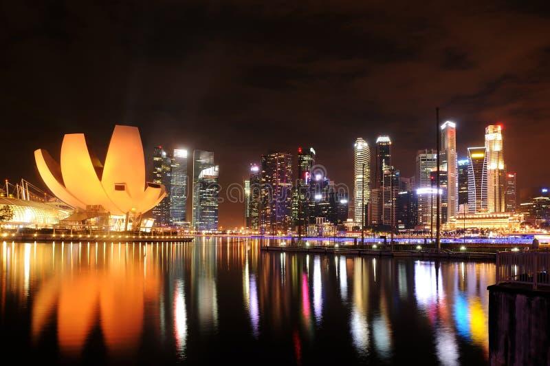 Sabbia della baia del porticciolo, Singapore immagine stock libera da diritti