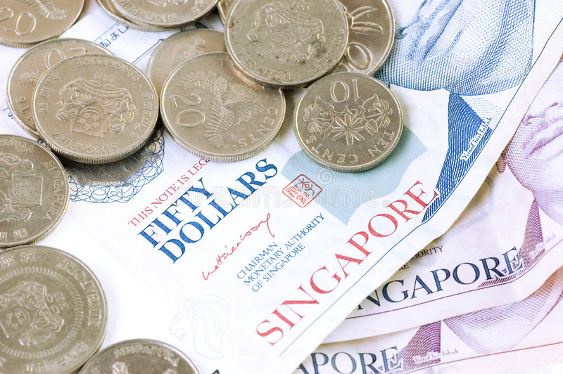 Singapore dollar royaltyfri fotografi